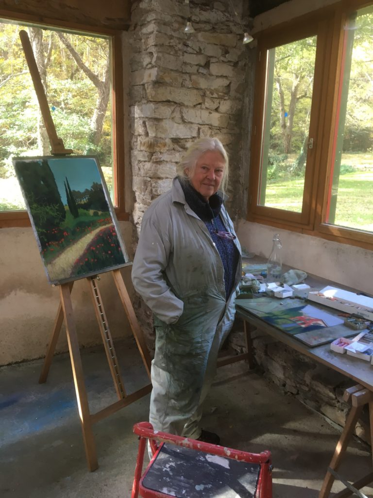 Mary Offermann in her studio